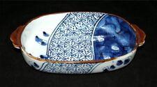 Nishikiyama Blue White Pottery Dish Signed