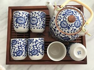 Fast Post Teapot Set Gift Present 7pcs Jingdezhen Porcelain Tea Cups Chinese