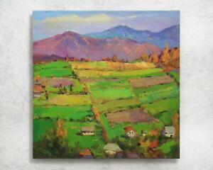 Plein air painting Landscape IMPRESSIONISM original Oil canvas by A. Onipchenko