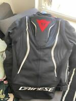 Dainese Tuono D-Air Perforated Leather Jacket 52, Black Matte