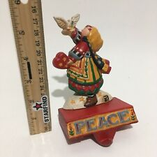 Midwest Mary Engelbreit Christmas Peace Stocking Hanger Holder Girl Dove See.