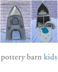 Pottery Barn Kids Fabric Dollhouse Unicorn Castke Soft Foldable Portable Rainbow