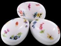 Vintage Limoges France Flower & Butterfly Trinket Box / Egg