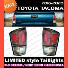 [CLEAR/GRAY] 2016-2020 TOYOTA TACOMA Limited Style Tail Lights Taillights (PAIR)