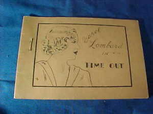1930s TIJUANA BIBLE 8 Page COMIC Book-Actress CAROL LOMBARD in TIME OUT