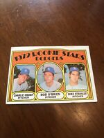1972 Topps #198 Charlie Hough Rookie RC Bob O'brien Mike Strahler LA Dodgers