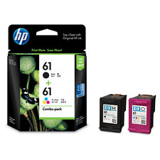 2 x HP ORIGINAL GENUINE 61 BLACK 61 COLOUR Deskjet 1000 1050 2050 3050A 2540