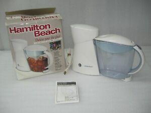 Hamilton Beach 2-Quart Electric Iced Tea Maker White 40911 EUC