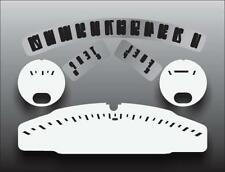 1957-1958 Ford Fairlane Dash Instrument Cluster White Face Gauges