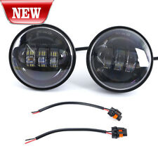 "2X 4.5"" Cree LED Fog Lights Auxiliary Passing Lamp Harley Davidson Motorcycles"