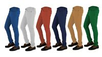 Mens Super Stretch Skinny Slim Fit Jeans Chinos Stretchy Denim Trouser Regular