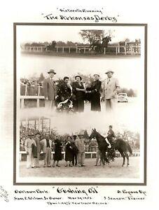 """1952 - Arkansas Derby Winner - GUSHING OIL - 3 Photo Composite - 8"""" x 10"""""""