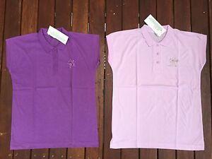 RENEE Ladies Girls Womens Cotton Blend Tennis Top T-Shirt Tee Choose Colour Size