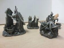 WAPW Pewter Wizard Figurines Job Lot Mirror Truth Castle spires Wizards Head C21