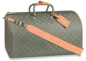 LOUIS VUITTON Keepall 50 Bag Titanium Monogram M43886 Kim Jones LV New w invoice