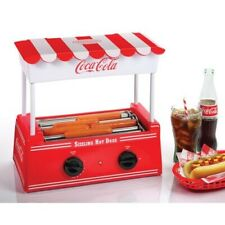 Nostalgia Hdr8ck Coca Cola Roller Warmer 8 Hot Dogs And 6 Buns Capacity