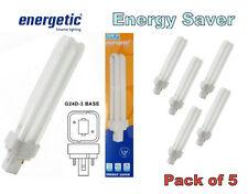 5 X Baja Energía Ahorro energético 26 W G24d-3 2P 4200k Lámpara Bombilla Luz PLC 2 Pines 2P