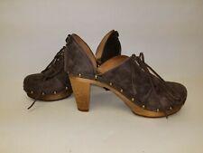 """Unique! Vintage Sanita Leather Clogs """"The Original Danish Clog"""" Size Eur 36 Us 6"""