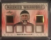 2017-18 Leaf Hockey Martin Brodeur 6 Way Patch Relic Devils Blues 1/2 Ebay 1/1!!