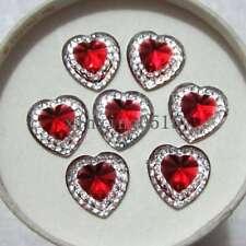 20 PCS hágalo usted mismo Artesanía Flatback Caramelo Dulces Cabujones en forma de corazón 17x14x10mm