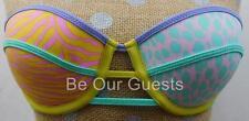 Victoria's Secret Pastel Animal Print Strapless Bikini Swim Suit Top 34B