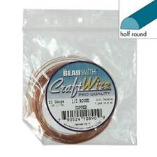 Craft Wire 18ga Half Rnd 7yd Spl Copper