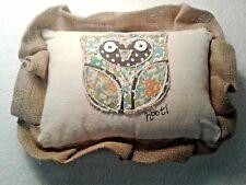 Handmade Glory Haus Canvas/Burlap Decorative Owl Pillow