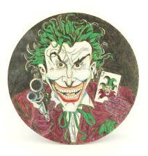 VTG Folk Naive Joker Batman Street Comic Graffiti Art Original Drawing Late 80s