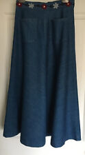 Gorman Long Denim Skirt Size 10 With Embroidery