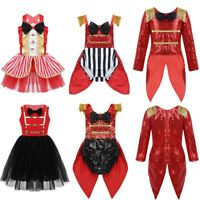 Kids Baby Girls Ringmaster Costume Showman Circus Fancy Dress Halloween Outfits