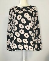 Ann Taylor Loft Blouse Womens Size Small Floral Long Sleeve Shirt Top