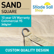 Square SAND 5.5m x 5.5m 10 YEAR UV 340GSM Shade Sail Sun Heavy Duty Commercial