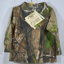 NWT! - Boy's Realtree APG HD 6-12m Camo / Camouflage Long Sleeve Shirt - NEW!