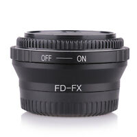 Canon FD Lens to Fujifilm X Mount Fuji X-Pro1 X-E2 X-M2 Adapter with 2pcs caps