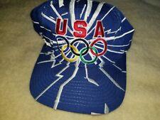 Vintage Starter USA 1996 Olympics Mens Snapback Hat shockwave shattered glass