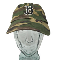 Twins Enterprise Boston Red Sox Baseball Cap Cotton Camouflage OSFM Strap Back