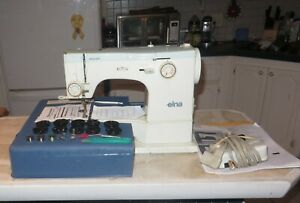 VINTAGE ELNA SU 62C SEWING MACHINE COMES W/CAMS,ACCESSORIES, FOOT PEDAL & CASE