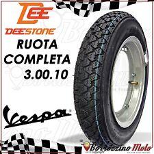 RUOTA COMPLETA GOMMA CERCHIO CAMERA D'ARIA 3.00-10 VESPA 50 SPECIAL ELESTART