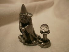 Pewter Miniature Wizard with Crystal by Cuter Pewter