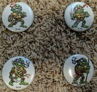 "Teenage Mutant Ninja Turtles TMNT Pin Set Button 2"" Pinback Handmade"
