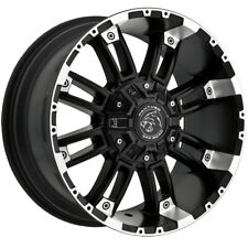 """4-Panther OffRoad 816 17x9 6x135/6x5.5"""" +0mm Black/Machined Wheels Rims 17"""" Inch"""