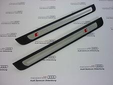 Original Audi Seuils De Porte A4, 2-teilig, Insert Décoration Aluminium Sline