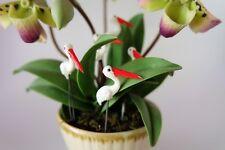 5pcs. Tiny White color Crane Bird - Miniature Dollhouse FAIRY GARDEN Accessories