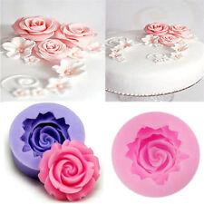 3D Rose Flower Silicone Fondant Mold Cake Baking Decor Tools DIY Chocolate Mould