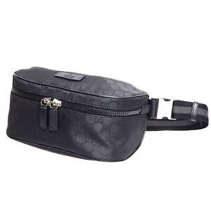 NEW Gucci Mens GG Supreme Guccissima Fanny Pack Waist Belt Bag