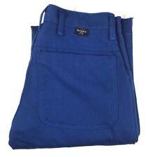 NEW BULWARK FR Extreme Flame Resistant Blue Unhemmed Work Pants Size 28