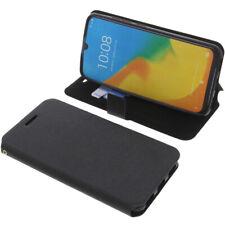 Funda Para ZTE Blade V10 Vita Book Style Protección Teléfono Móvil Libro Negro