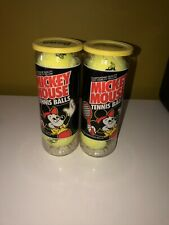 Vintage Sealed Can Penn Mickey Mouse Yellow Tennis Balls - 2 Cans