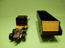 SIKU 3412 MERCEDES BENZ TRUCK + TIPPER - MEYER & CO - BLACK YELLOW 1:55? - GOOD