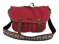 Robert Graham Atkins Red Canvas Messenger Bag Unisex Adult Flaw To Clasp